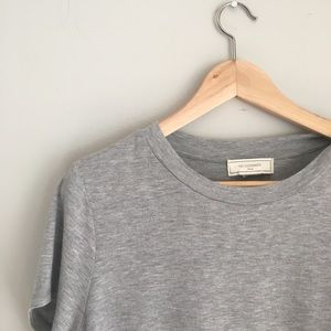 No Comment Grey Peplum Top Size Large